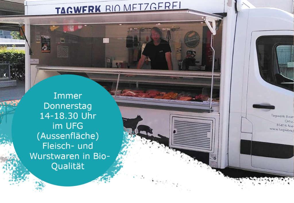 Ein Markt-Verkaufswagen für Fleischwaren von TAGWERK